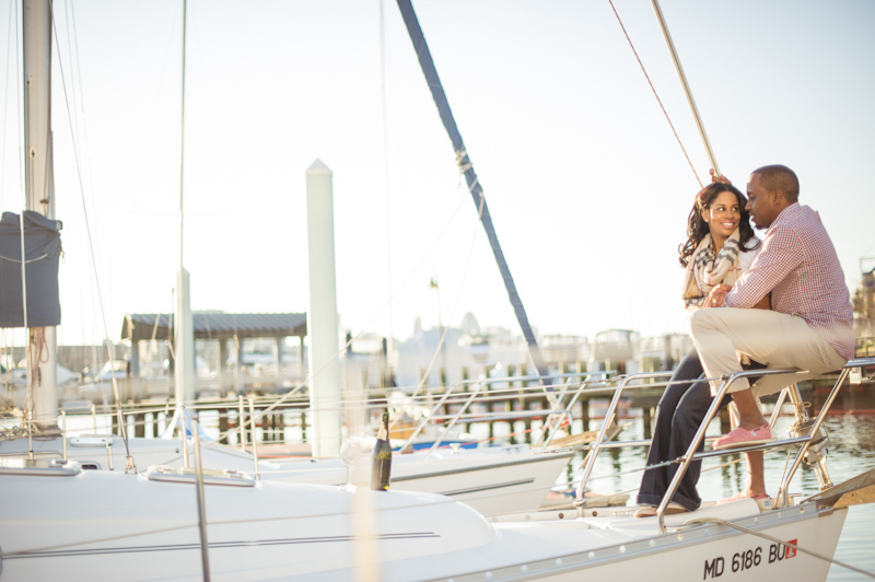 Baltimore Inner Harbor Engagement Session Photos, boat, engagement session, Janeen and Chris, theme width=